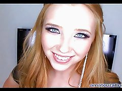 Horny Blonde Teen Loves To Swallow