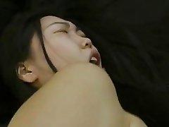 Skinny asian girl Nicoline pov anal sex