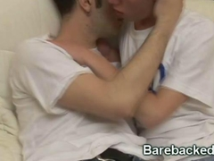 Bareback Action With His Friend