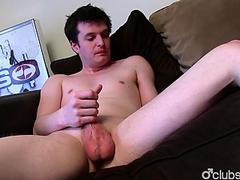 Brunette Straight Guy Josh Masturbating