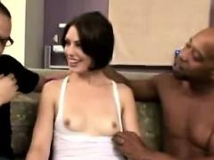 Perv watches wife sucking black mans big black cock