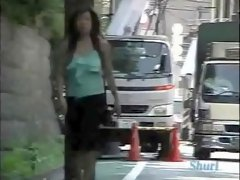 Savoury Japanese chicks in hot public top sharking scenes