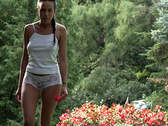Lexi Layo goes to a park with her boyfriend and fucks very hard