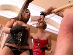 Get slapped by two hot babes