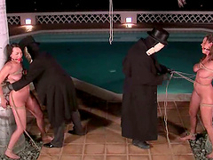 Girls Get Outdoors Bondage and Domination by Masked Guys