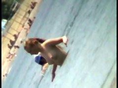 Voyeur beach nudity with hot teen babes topless