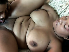 Voluptuous chick Kandi Kream is giving her man the best sex she can