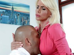 Hot blonde Tiffany Rousso is ready to take extra jobs at the office