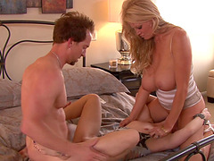 Kelly Madison and Dani Jensen hook up with a horny stud