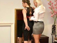 Euro MILF lesbians intimate orgasms