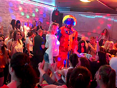 Salacious party girls go wild in a raging club orgy