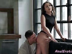 Classy euro anally dickriding her lover