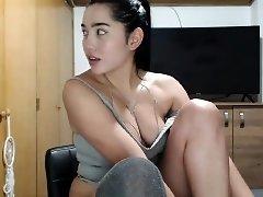 Big boobs asian solo