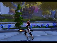 Warcraft : Keyla and her elves friends.