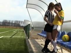 Brazilian player banging the referee