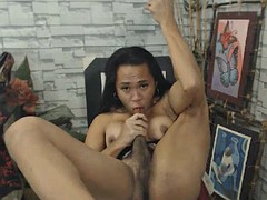 self sucking big dick asian tranny