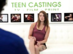 Hot shy teen Kristen Lee doesn't want to be broken hard
