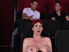 Milf with huge tits gets fucked in the cinema