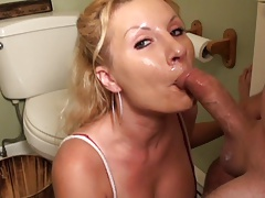 kelly the cum slut 8 bathroom blowjob