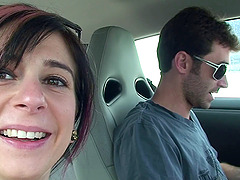 Pornstar Joanna Angel is super cute in a selfshot car video