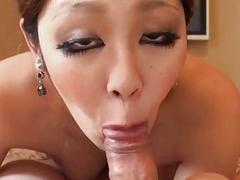 Busty angel Anna amazes with her dashing cock sucking