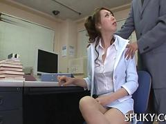 she gets to be fucked hard in her office