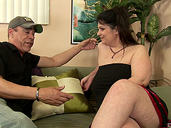 Horny mature pornstar with a hairy pussy gets a cumshot after being pounded hardcore