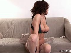 Smoking hot bombshell is enjoying her masturbation time and teasing session with her fav toys in front of webcam