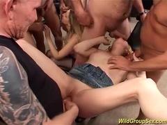wild anal bukkake groupsex orgy