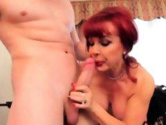 Guy Crams His Cock Down A Mature Latina'S Throat.