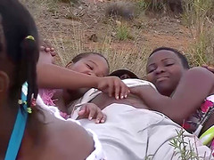 two german big cocks enjoys a wild african groupsex outdoor orgy with hot chocolade babes