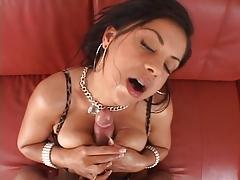 Horny slut banged hard with cock