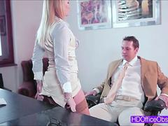 Hottie blonde boss Kathia Nobili gets fuck hard by a bigcock