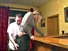 Milf waitress direct after work in the pub fucked