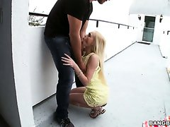 Comely blonde Alex Grey wants it rough and she knows how to perform fellatio