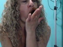 Solo amateur masturbating and cumming