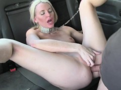 Babe Lexi Lou hot anal sex in the taxi
