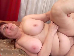 Rough sex with a mature BBW