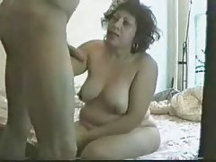 Teaching to my aunt how to suck cock