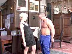 Slutty housewife can't resist seducing the handsome repairman
