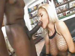 Eva Kent sucks & assfucks huge black for messy facial