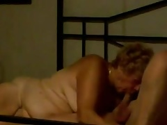 72 yo couple play on bed