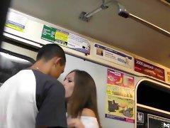 Arousing asian gets filmed under her skirt