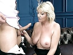 Lewd old whore Rosemary is still expert at riding strong cock on top