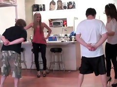 Sweet domination scene with awesome blonde
