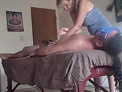 Massage, hidden cam