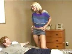 Teen Asks Her Mom To Suck Off BFs Big Cock
