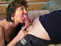 granny give mature blowjob