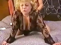 Sexy granny is fucked doggy style and she actually seems to