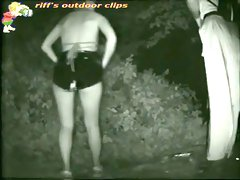 Sexy girl peeing video by a hidden night public camera